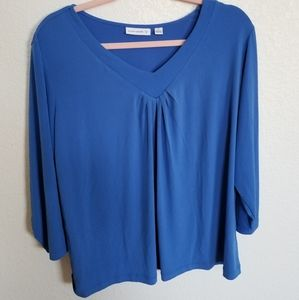 Susan graver 1x blue top